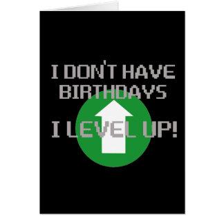 Ich habe nicht Geburtstage… Karte