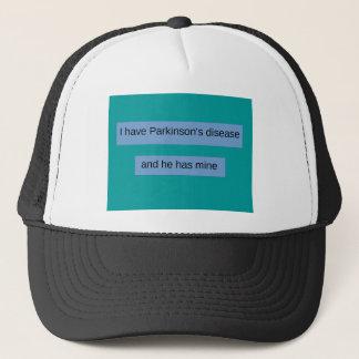 Ich habe Parkinson-Krankheit und er hat Bergwerk Truckerkappe