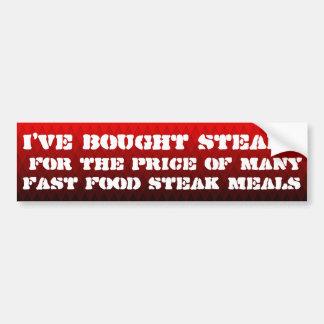 Ich habe Steaks für den Preis von… gekauft Autoaufkleber