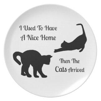 Ich hatte eine Nizza Zuhause-Katzen-Platte Melaminteller