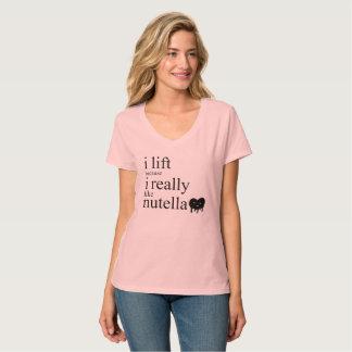 Ich hebe an, weil ich wirklich Nutella T - T-Shirt