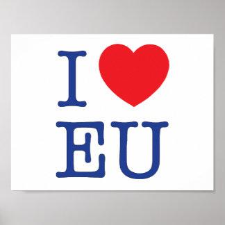 """Ich Herz EU-"" Plakat"