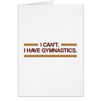 Ich kann ich Gymnastik nicht haben Karte