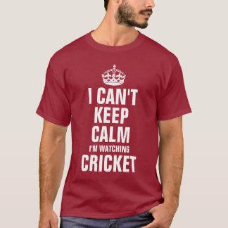 Ich kann Ruhe nicht behalten, die ich Kricket T-Shirt