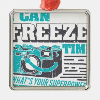 Ich kann Zeit einfrieren, was Ihr SuperPower ist? Silbernes Ornament