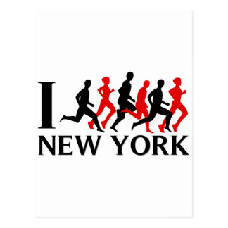 ICH LASSE NEW YORK LAUFEN POSTKARTE