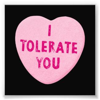 Ich lasse Sie Valentinstag-Herz-Süßigkeit zu Kunst Photo