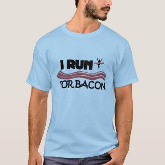 Ich laufe für Speck - lustiges laufendes Shirt für
