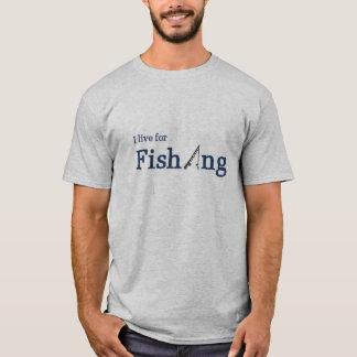 Ich lebe für Angelrute T-Shirt