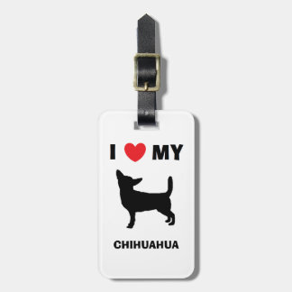 """""""Ich Liebe mein Chihuahua-"""" Gepäck-Umbau Gepäckanhänger"""
