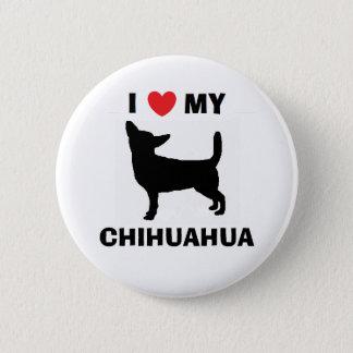 """""""Ich Liebe mein Chihuahua-"""" Knopf Runder Button 5,7 Cm"""