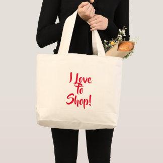 """""""Ich Liebe zu kaufen!"""" Tasche"""