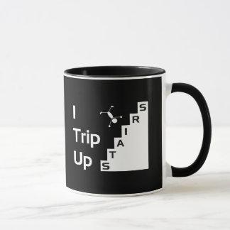Ich löse oben Treppen-Tasse aus Tasse