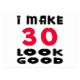 Ich mache Blick 30 gut Postkarte