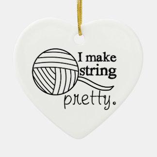 Ich mache Schnur hübsch • Garn-Handwerk Keramik Ornament