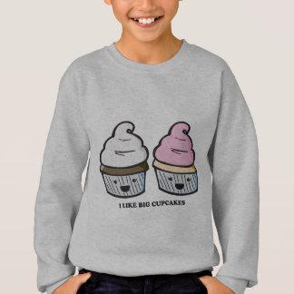 Ich mag große kleine Kuchen Sweatshirt