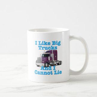 Ich mag große LKWs und ich kann nicht liegen Tasse