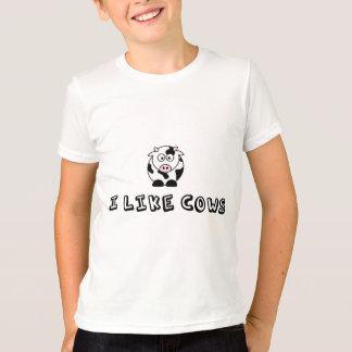 Ich mag Kuh-Kinder T-Shirt