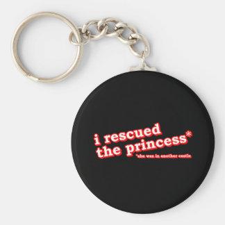 Ich rettete die Prinzessin? Standard Runder Schlüsselanhänger