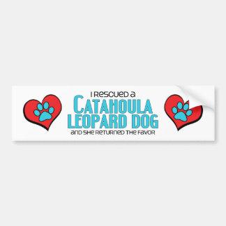 Ich rettete einen Catahoula Leopard-Hund (weiblich Autoaufkleber