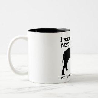 Ich rettete meine bester Freund-HundeTasse Zweifarbige Tasse