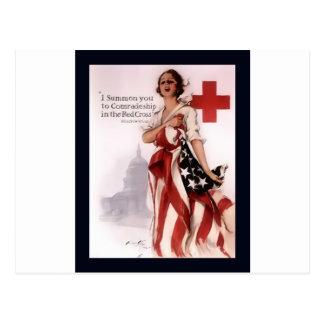 Ich rufe Sie zur Kameradschaft im roten Cross~WW I Postkarte