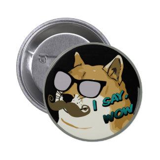 ICH SAGE wow Dogecoin Runder Button 5,1 Cm