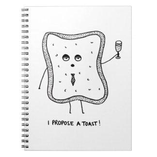 Ich schlage einen Toast vor Spiral Notizblock