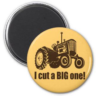 Ich schnitt einen großen Traktor Runder Magnet 5,7 Cm