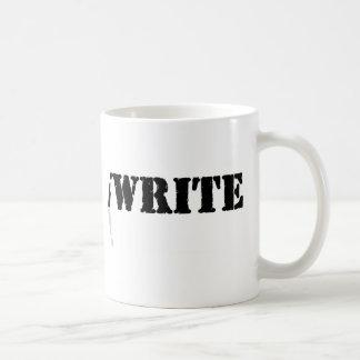 Ich schreibe tasse