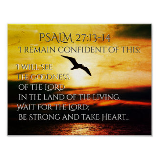 Ich sehe die Güte des 27:13 Lords Psalm - 14 Poster