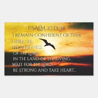 Ich sehe die Güte des 27:13 Lords Psalm - 14 Rechteckiger Aufkleber