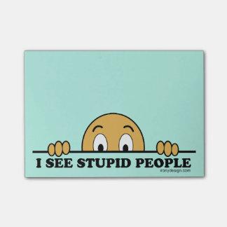 Ich sehe dumme Leute Post-it Klebezettel