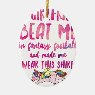 Ich sind zum Kotzen an Fantasie-Fußball Kurz-Hülse Keramik Ornament