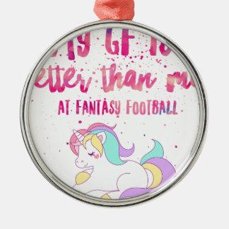 Ich sind zum Kotzen an Fantasie-Fußball Kurz-Hülse Silbernes Ornament