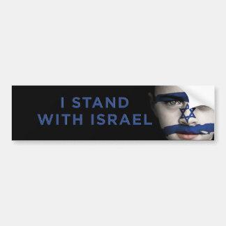 """""""Ich stehe mit Israel """" Autoaufkleber"""