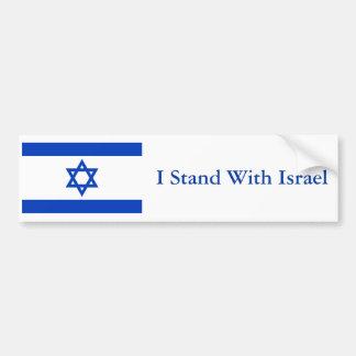Ich stehe mit Israel Autoaufkleber