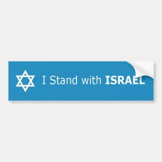 Ich stehe mit ISRAEL-Davidsstern Autoaufkleber