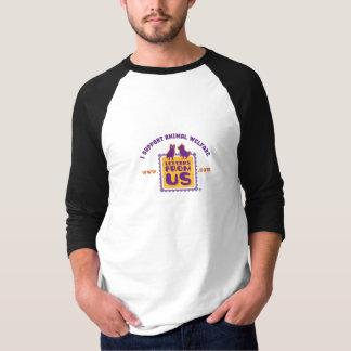 """""""Ich stütze Tierschutz"""" 3/4 HülseRaglan T-Shirt"""