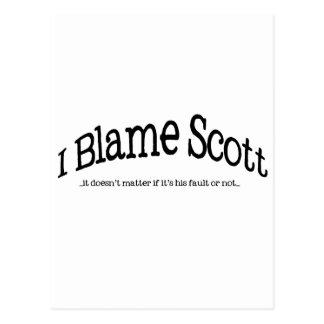 Ich tadele Scott Postkarte