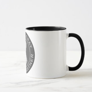 Ich trage Grau für meinen Partner Tasse