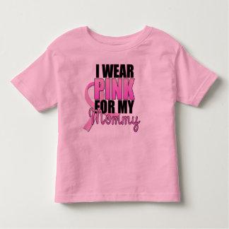 Ich trage Rosa für mein Mama-Kleinkind Kleinkinder T-shirt