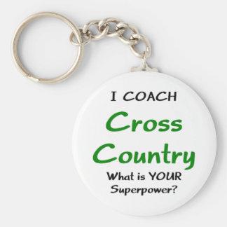 Ich trainiere Cross Country Schlüsselanhänger
