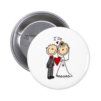 Ich tue Hochzeits-Zeremonie-Knopf