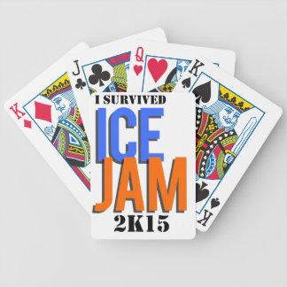 Ich überlebte EIS-STAU 2K15 Poker Karten