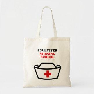 Ich überlebte Krankenpflegeschule Budget Stoffbeutel