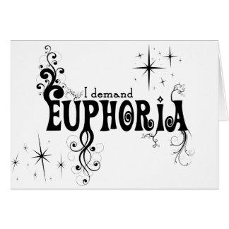 Ich verlange Euphorie - schwarzen Wirbel, Sterne, Grußkarte