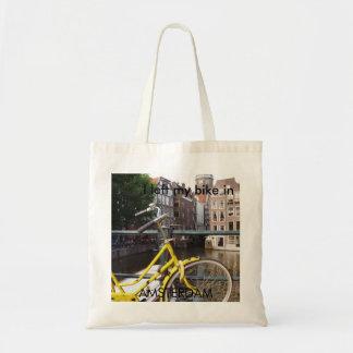 Ich verließ mein Fahrrad in AMSTERDAM Budget Stoffbeutel