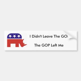 Ich verließ nicht den GOP, der GOP verließ mich Autoaufkleber