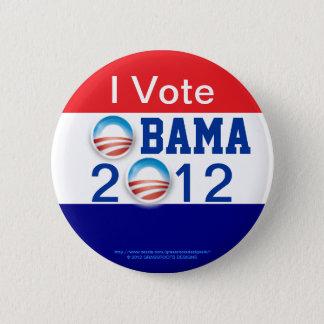 Ich wähle, 3D Logo, 2. Ausdruck OBAMA 2012 Runder Button 5,1 Cm